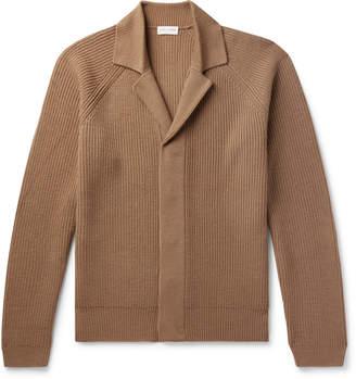 Dries Van Noten Ribbed Merino Wool Cardigan