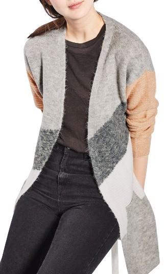 TopshopWomen's Topshop Diagonal Colorblock Cardigan