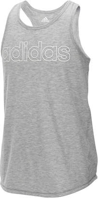 adidas Graphic-Print Tie-back Tank Top, Big Girls