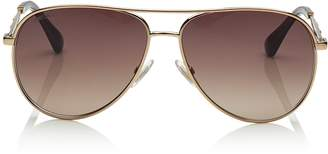 Jimmy Choo JEWLY Bronze Aviator Sunglasses