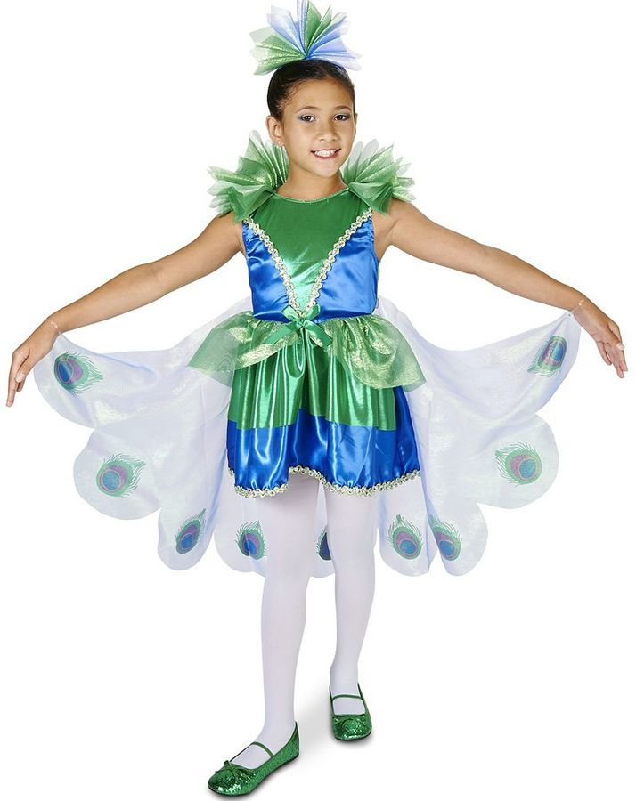 Kids Pretty Little Peacock Costume
