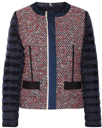 Moncler - Ossau Tweed And Quilted Shell Down Jacket - Navy $1,050 thestylecure.com