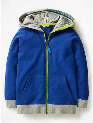 Boden Mini Boys' Colour Block Hoodie, Orion Blue