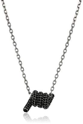 "Marc Jacobs Fall 2016"" Pave Twisted Pendant Necklace"