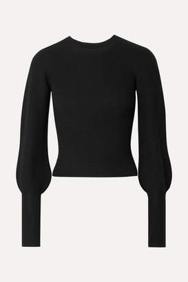 Theory Ribbed Cashmere Sweater - Black