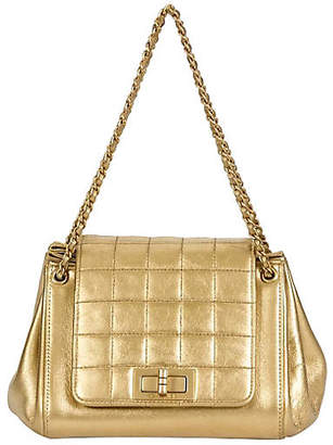 One Kings Lane Vintage Chanel Gold Accordion Quilted Bag