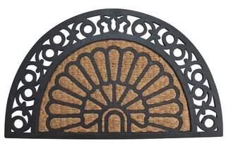 August Grove Rosamund Half Moon Fancy Welcome Doormat
