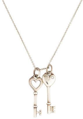 Tiffany & Co. Double Heart Key Pendant Necklace $225 thestylecure.com
