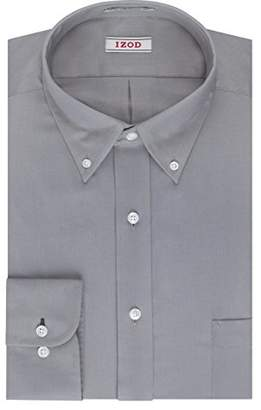 Izod Mens Dress Shirts Regular Fit Solid Twill Button Down Collar