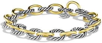 David Yurman 'Oval' Link Bracelet with Gold