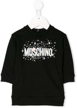 Moschino Kids galaxy logo print sweatshirt