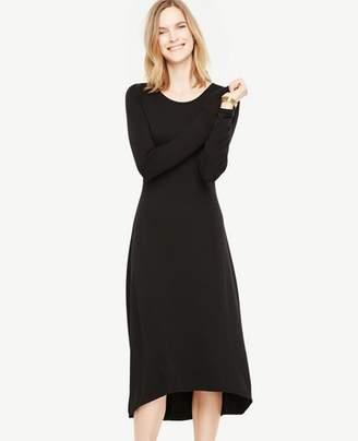 Ann Taylor Elliptical Hem Midi Dress
