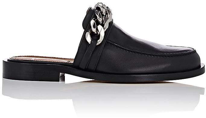 Givenchy Women's Chain-Strap Leather Mules