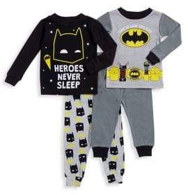 AME Sleepwear Little Boy's Two-Piece Batman Long Sleeve Pajama Set