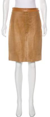 Ralph Lauren Black Label Calf Hair Skirt