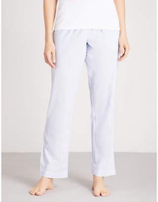 The White Company Stripe pattern cotton pyjama bottoms