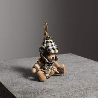 Burberry Thomas Bear Charm in Vintage Check Trench Coat