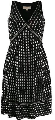 MICHAEL Michael Kors Georgette stud-embellished dress