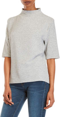 French Connection Mock Neck Jersey Top