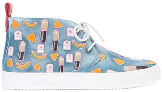 Del Toro Shoes patch detail lace-up sneakers