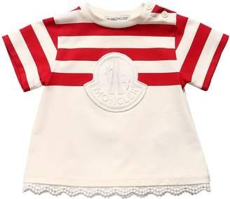 Moncler Striped Cotton Jersey Dress