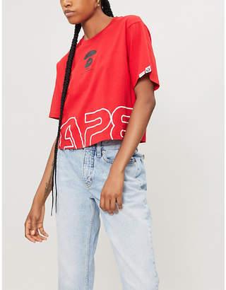 Aape Logo-print cotton-jersey T-shirt