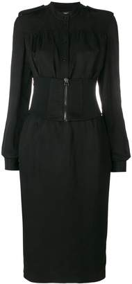 Tom Ford corset waist midi dress