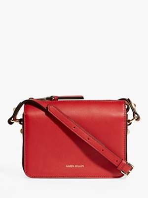 Karen Millen Compact Leather Cross Body Bag