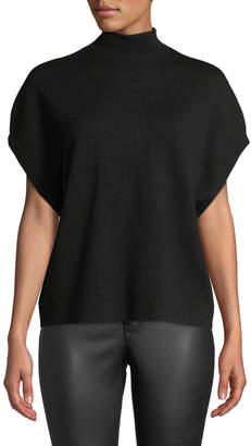 Alice + Olivia Brooke Mock-Neck Pullover w/ Back Detail