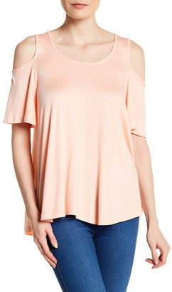 Bobeau Short Sleeve Cold Shoulder Shirt $38 thestylecure.com