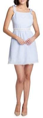 Kensie Dresses Tie-Strap Cotton Dress