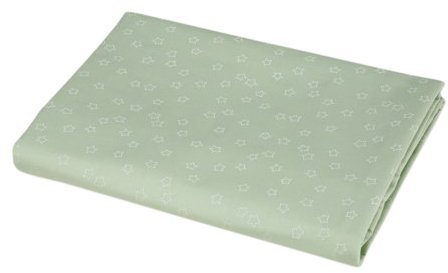 American Baby Company ABC 100% Percale Cotton Mini Crib Sheet - Celery Star