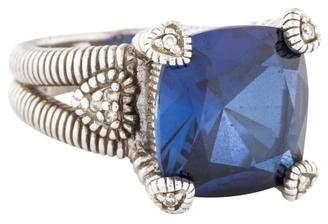 Judith Ripka Synthetic Sapphire & Diamond Cocktail Ring