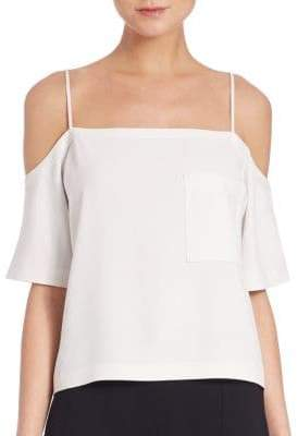 Alexander Wang Poly Crepe Off-The Shoulder Top