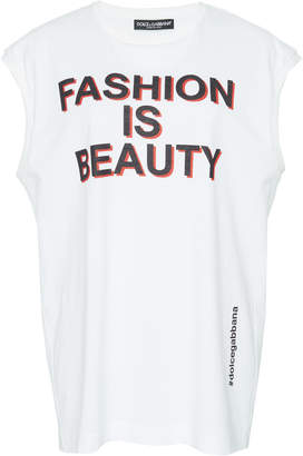 Dolce & Gabbana Fashion Is Beauty Cotton Muscle Tee