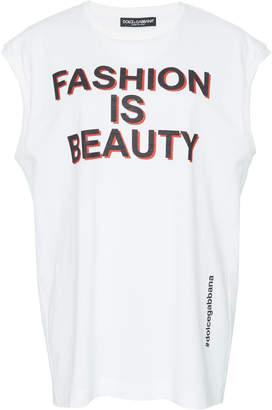 Dolce & Gabbana Fashion Is Beauty Cotton Muscle Tee