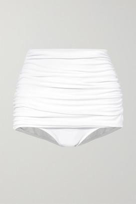 Norma Kamali Bill Ruched Bikini Briefs - White