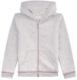 Mint Velvet Silver Grey Zipped Hoodie