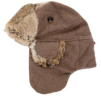 MonclerMoncler Fur-Trimmed Trapper Hat