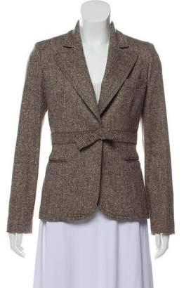 Anna Molinari Wool-Blend Textured Blazer