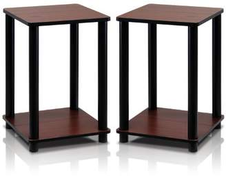 Furinno 2-99800RDC Turn-N-Tube End Table Corner Shelves