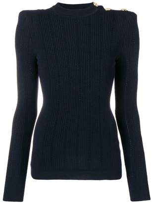 Balmain long-sleeve fitted sweater