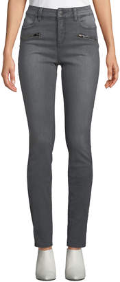 NYDJ Alina Zip-Pocket Skinny Jeans