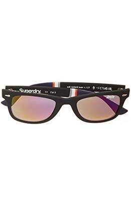 Superdry Men's SDR ICSOLENT SUN Sunglasses, (Black Rubberised), 55.0