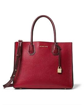 Michael Kors Mercer Large Pebbled And Embossed Leather Accordion Tote