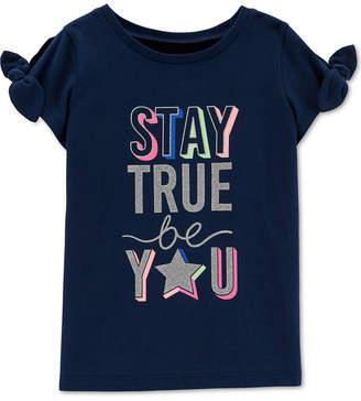 Carter's Little Girls Stay True Graphic Cotton T-Shirt