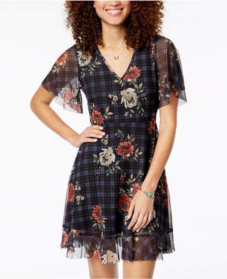 American Rag Juniors' Tie-Back Fit & Flare Dress