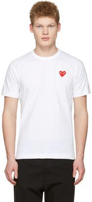 Comme des Garçons Play White Heart Patch T-Shirt $100 thestylecure.com