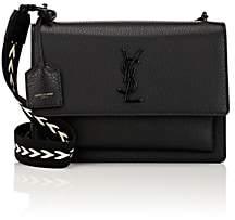 Saint Laurent Women's Monogram Sunset Medium Leather Satchel-Black