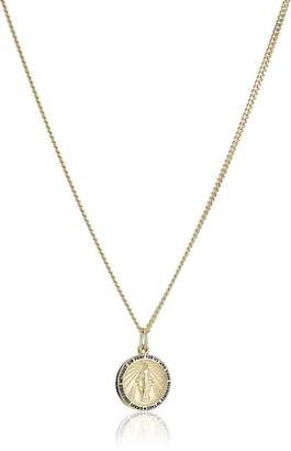 """DAY Birger et Mikkelsen Amazon Collection 14k -Filled Round Miraculous Medal Madonna Pendant Necklace with Stainless Steel Chain, 20"""""""